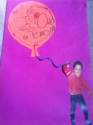 Raahim's card on Mother's day